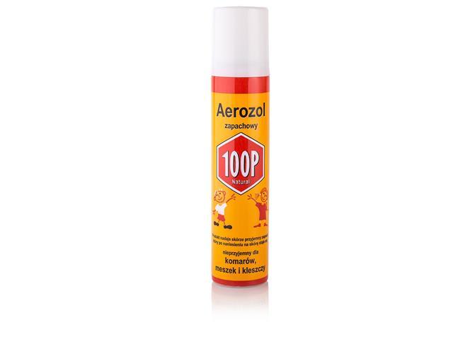 100P Aerosol ochronny p/komar.kleszcz.meszkom interakcje ulotka spray  75 ml