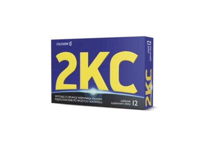 2 KC interakcje ulotka tabletki  12 tabl.