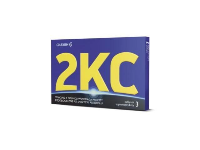 2 KC interakcje ulotka tabletki  3 tabl.