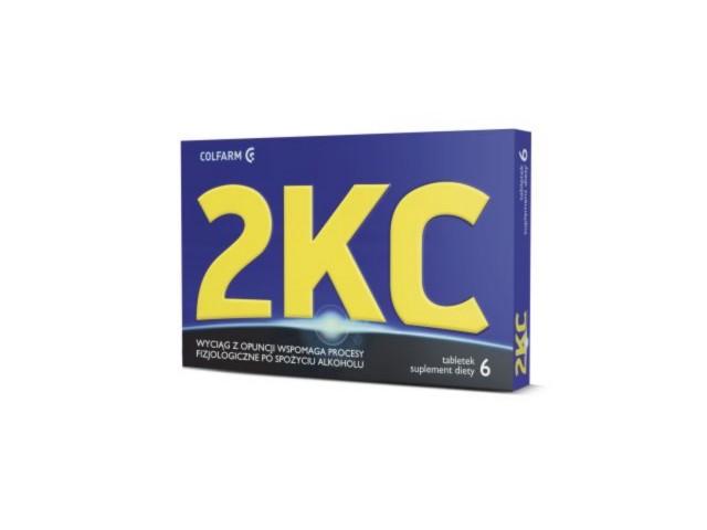 2 KC interakcje ulotka tabletki  6 tabl.