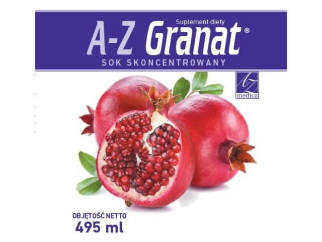 A-Z Granat interakcje ulotka sok  495 ml