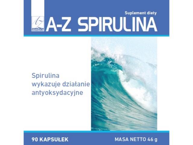 A-Z Spirulina interakcje ulotka kapsułki  90 kaps.
