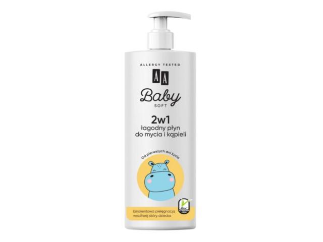 AA BABY SOFT Płyn d/mycia i kąpieli 2w1 Łagodny interakcje ulotka   500 ml