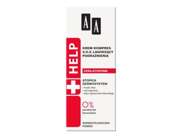 AA HELP CERA ATOPOWA Krem-kompres SOS łag.podraż. interakcje ulotka   40 ml | tuba w kartoniku