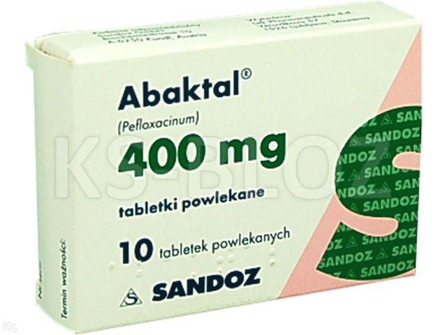 Abaktal interakcje ulotka tabletki powlekane 0,4 g 10 tabl.