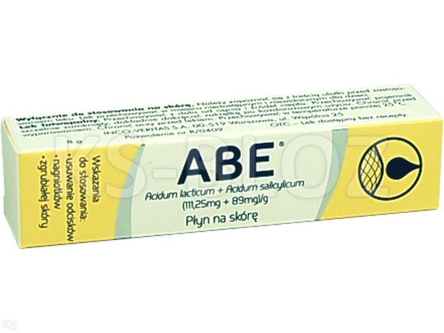 ABE interakcje ulotka płyn do stosowania na skórę (0,089g+0,089g)/g 8 g