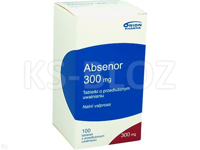 Absenor interakcje ulotka tabletki o przedłużonym uwalnianiu 0,3 g 100 tabl.