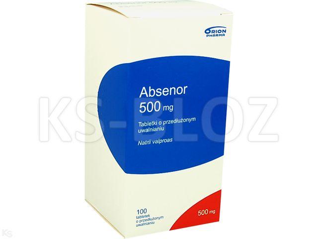 Absenor interakcje ulotka tabletki o przedłużonym uwalnianiu 0,5 g 100 tabl.