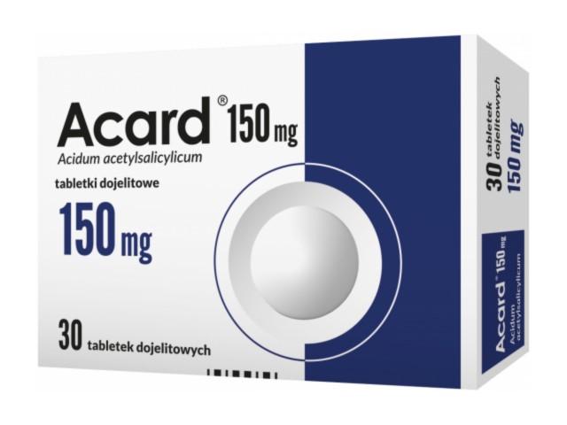 Acard 150 mg interakcje ulotka tabletki dojelitowe 0,15 g 30 tabl.