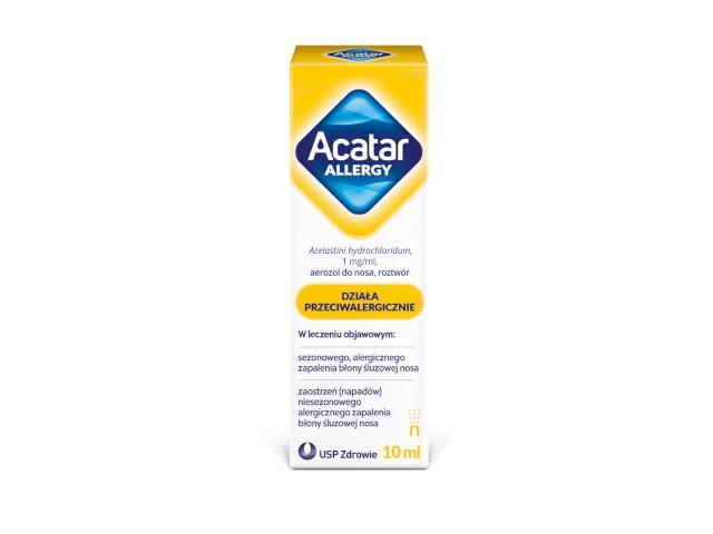 Acatar Allergy interakcje ulotka aerozol do nosa, roztwór 1 mg/ml 1 but. po 10 ml