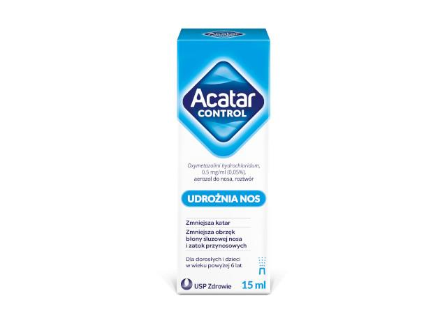 Acatar Control (Acatar) (Acatar) interakcje ulotka aerozol do nosa 0,5 mg/ml 15 ml