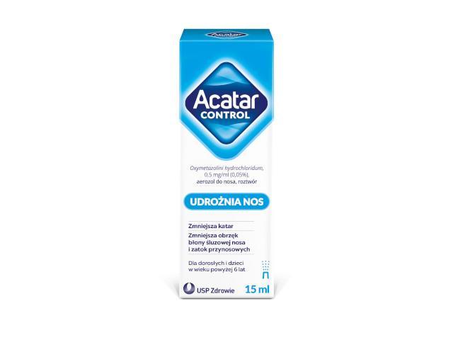 Acatar Control (Acatar) interakcje ulotka aerozol do nosa 0,5 mg/ml 15 ml