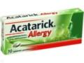 Acatarick Allergy interakcje ulotka tabletki powlekane 0,01 g 10 tabl.