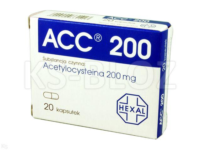 ACC 200 interakcje ulotka kapsułki 0,2 g 20 kaps.