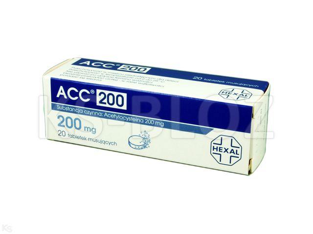 ACC 200 interakcje ulotka tabletki musujące 0,2 g 20 tabl.