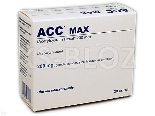 ACC interakcje ulotka granulat do sporządzania roztworu doustnego 0,2 g 20 sasz.