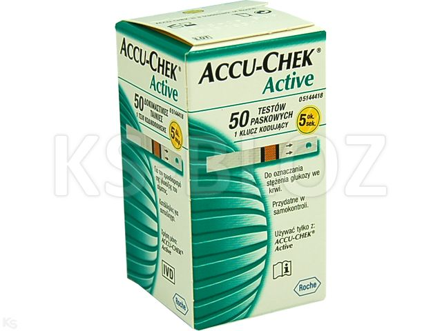 Accu-Chek Active interakcje ulotka test paskowy  50 pask.