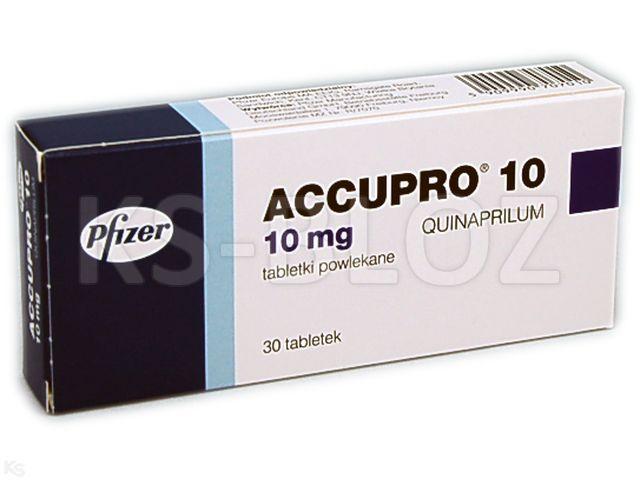 Accupro 10 interakcje ulotka tabletki powlekane 0,01 g 30 tabl.