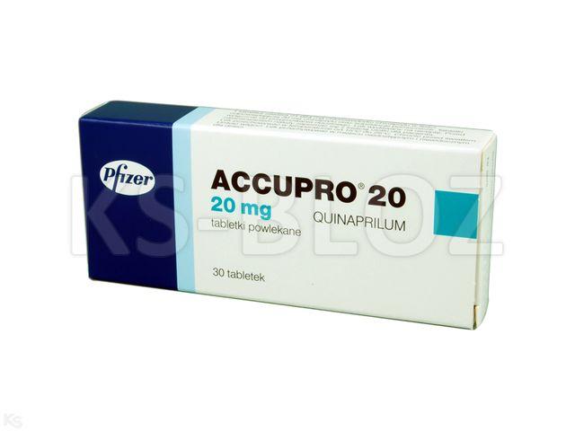 Accupro 20 interakcje ulotka tabletki powlekane 0,02 g 30 tabl.