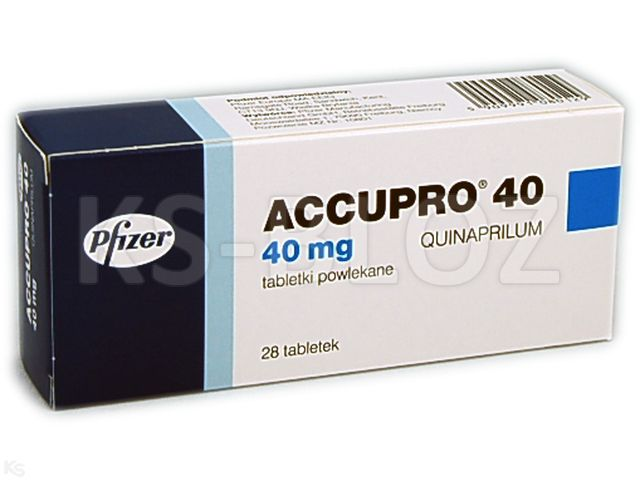 Accupro 40 interakcje ulotka tabletki powlekane 0,04 g 28 tabl.