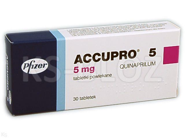 Accupro 5 interakcje ulotka tabletki powlekane 5 mg 30 tabl.