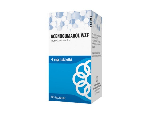 Acenocumarol WZF interakcje ulotka tabletki 4 mg 60 tabl.