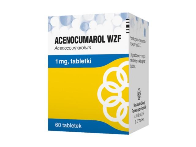 Acenocumarol WZF interakcje ulotka tabletki 1 mg 60 tabl.