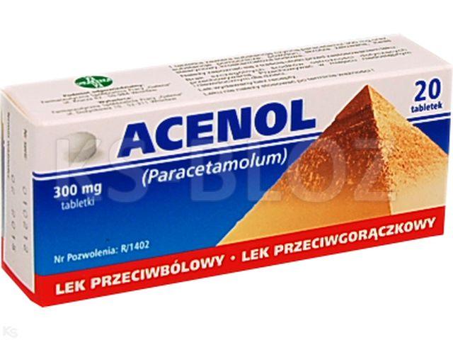 Acenol interakcje ulotka tabletki 0,3 g 20 tabl. | 2 blist.po 10 szt.