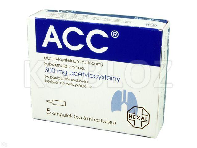 Acetylcysteine Sandoz interakcje ulotka roztwór do infuzji 0,1 g/ml 5 amp. po 3 ml