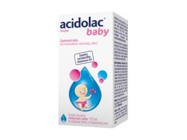 Acidolac Baby interakcje ulotka krople doustne  10 ml