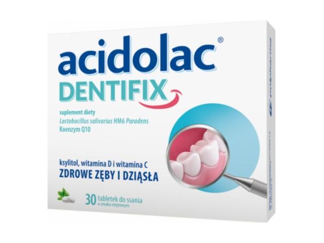 Acidolac Dentifix interakcje ulotka tabletki do ssania  30 tabl.