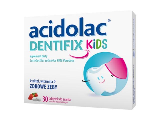 Acidolac Dentifix Kids interakcje ulotka tabletki do ssania  30 tabl.