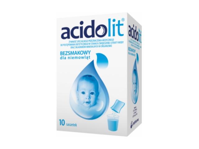 Acidolit bezsmakowy d/niemowląt interakcje ulotka proszek do sporządzania roztworu doustnego  10 sasz. po 4.35 g