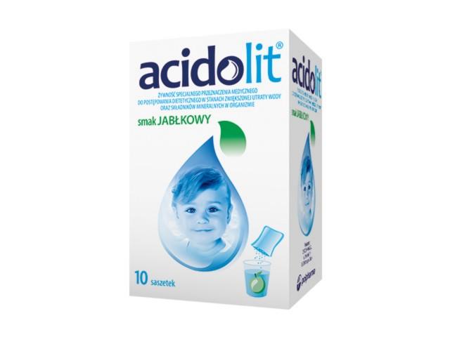 Acidolit sm.jabłkowy interakcje ulotka proszek do sporządzania roztworu doustnego  10 sasz. po 4.4 g
