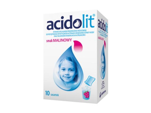 Acidolit sm.malinowy interakcje ulotka proszek do sporządzania roztworu doustnego  10 sasz. po 4.4 g