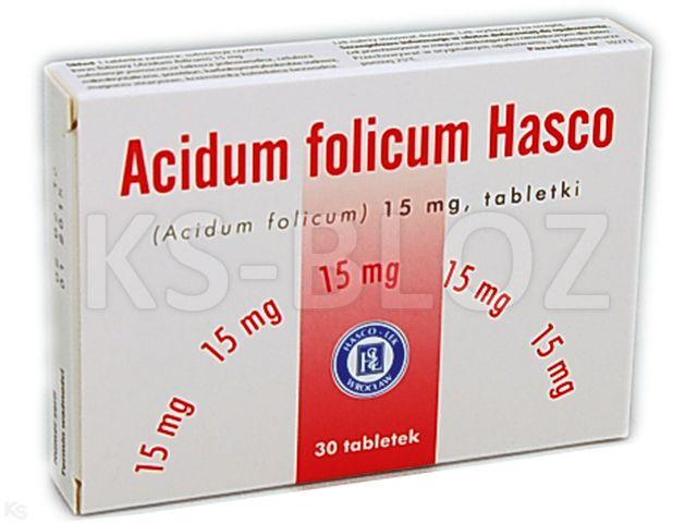 Acidum folicum Hasco interakcje ulotka tabletki 0,015 g 30 tabl.