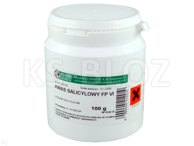 Acidum salicylicum (Rec.) interakcje ulotka substancja  100 g