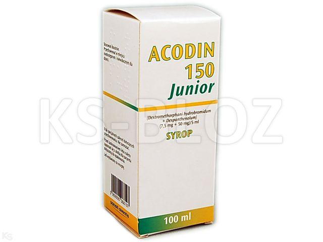 Acodin 150 Junior interakcje ulotka syrop (7,5mg+0,05g)/5ml 100 ml