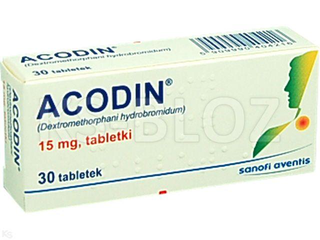 Acodin interakcje ulotka tabletki 0,015 g 30 tabl. | 3 blist.po 10 szt.