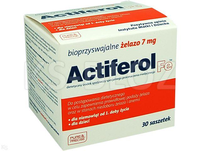Genialny Actiferol Fe 7 mg - ulotka (dawkowanie, zastosowanie, interakcje CV95
