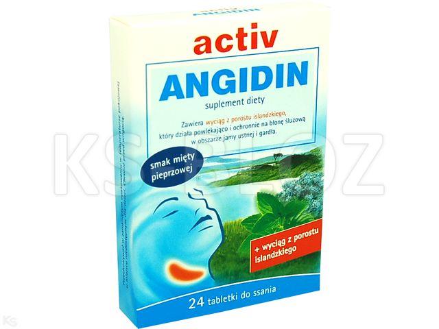 Activ Angidin interakcje ulotka tabletki  24 tabl.