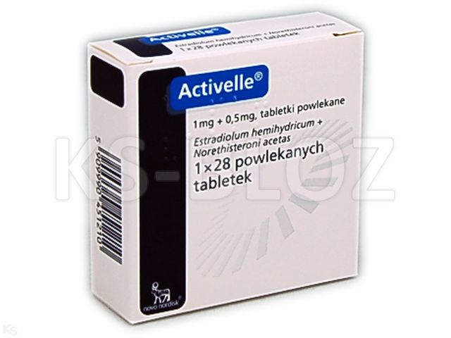 Activelle interakcje ulotka tabletki powlekane 1mg+0,5mg 28 tabl.