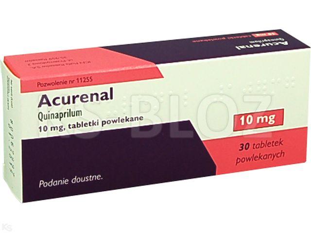 Acurenal interakcje ulotka tabletki powlekane 0,01 g 30 tabl.