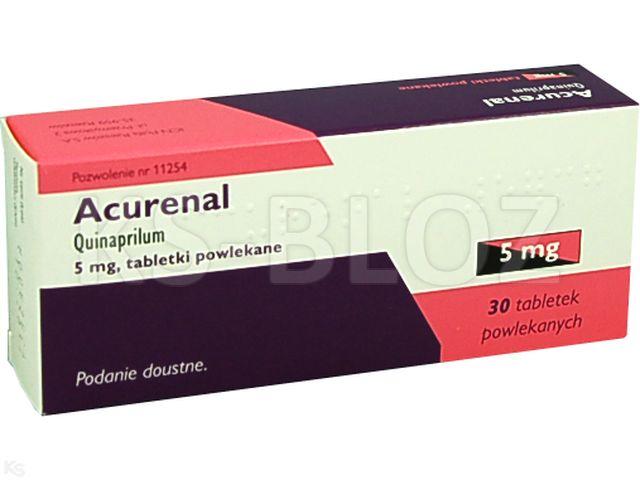 Acurenal interakcje ulotka tabletki powlekane 5 mg 30 tabl.