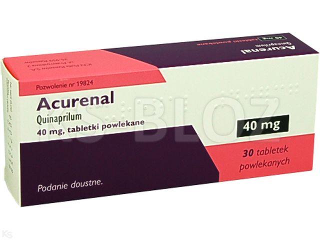 Acurenal interakcje ulotka tabletki powlekane 0,04 g 30 tabl.
