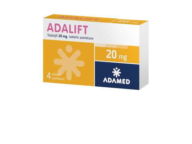 Adalift interakcje ulotka tabletki powlekane 0,02 g 4 tabl.