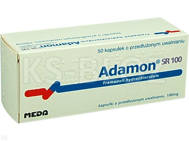 Adamon SR 100 interakcje ulotka kapsułki o przedłużonym uwalnianiu 0,1 g 50 kaps.