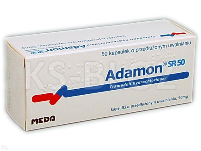 Adamon SR 50 interakcje ulotka kapsułki o przedłużonym uwalnianiu 0,05 g 50 kaps.
