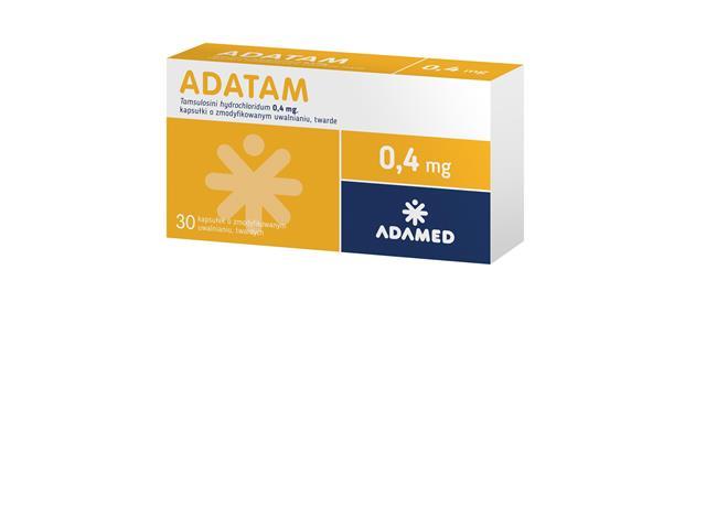 Adatam interakcje ulotka kapsułki o zmodyfikowanym uwalnianiu twarde 0,4 mg 30 kaps.