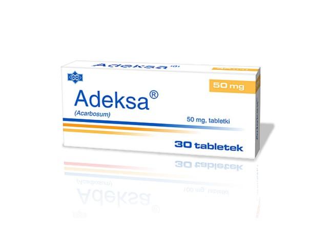 Adeksa interakcje ulotka tabletki 0,05 g 30 tabl.
